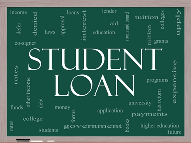 student loan collage image